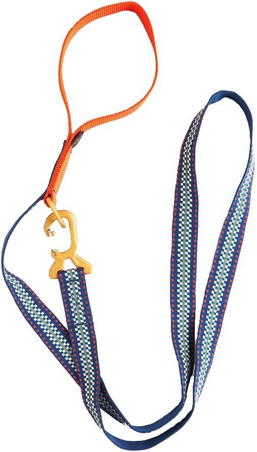 United By Blue Woven Dog Leash Webbing Pet Lead, 6' Reflector Stripe