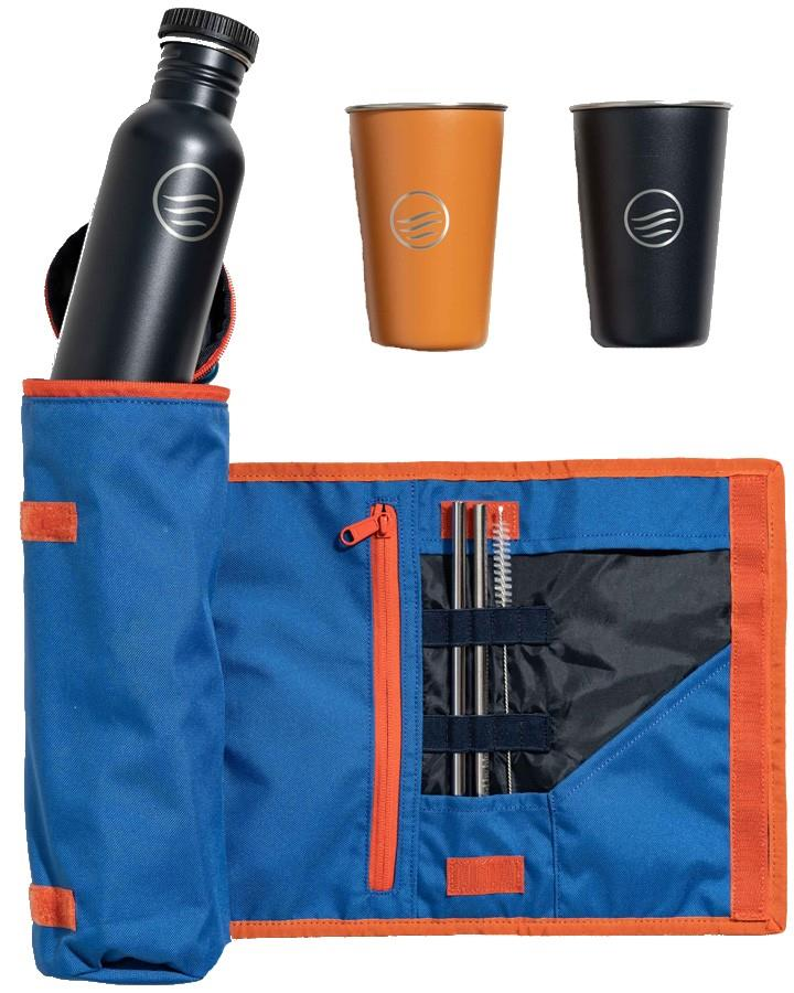 United By Blue Drink Kit Water Bottle & Cup Set, Blue