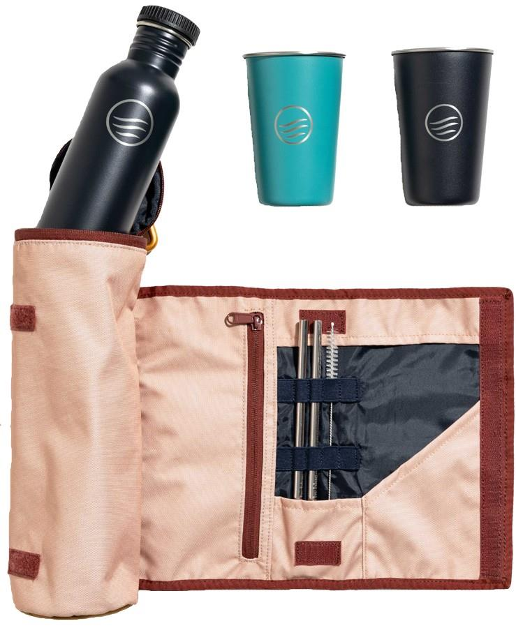 United By Blue Drink Kit Water Bottle & Cup Set, Pink