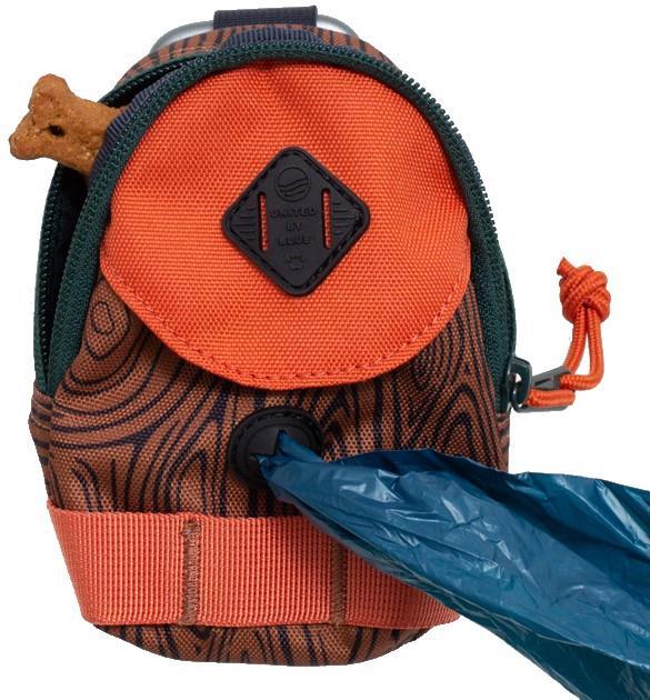 United By Blue Dog Poo Waste Bag Dispenser & Treat Pouch, Chesnut