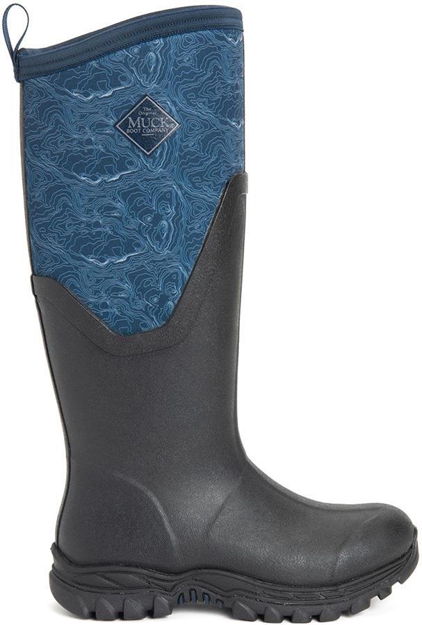 Muck Boot Arctic Sport II Tall Women's Wellies, UK 7 Black/Blue