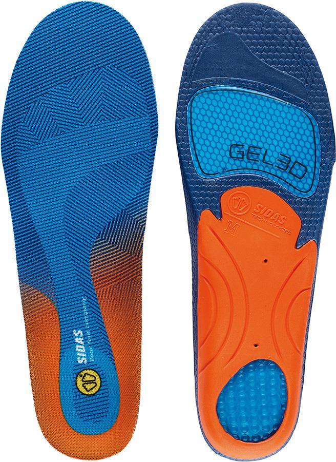 Sidas Cushioning Gel 3D Boot/Shoe Insoles, XL Blue/Orange