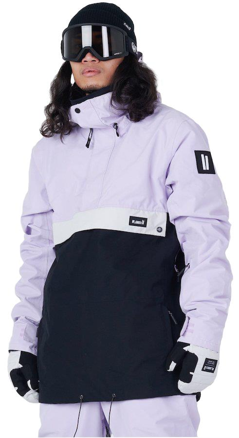 Planks Happy Days Anorak Shell Ski/Snowboard Jacket, L Purple Haze