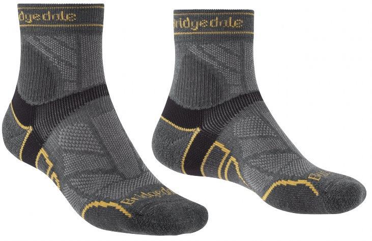 Bridgedale Trail Run Lightweight T2 Merino Running Socks XL Gunmetal