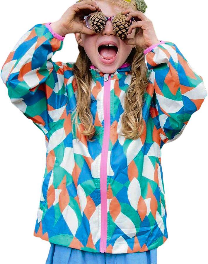 Muddy Puddles Ecolight Kids Waterproof Jacket, 2-3yrs Multi Abstract