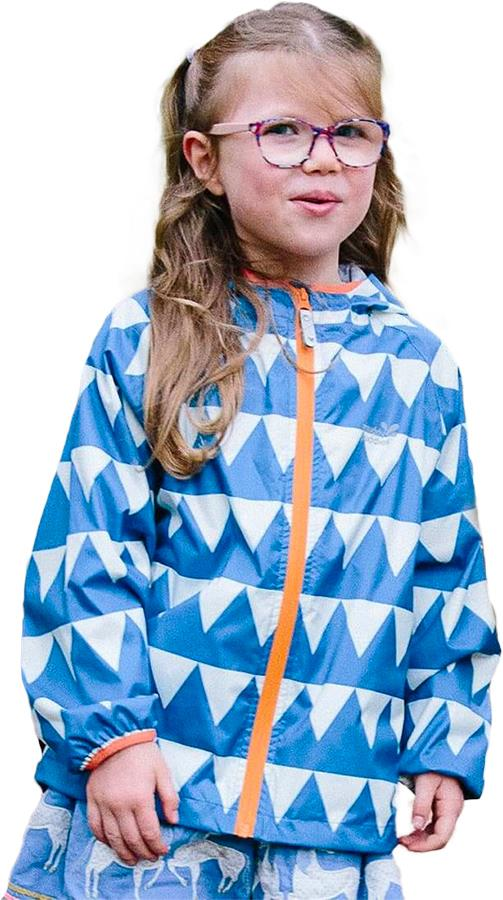Muddy Puddles Ecolight Kids Waterproof Jacket, 2-3yrs Blue Triangles