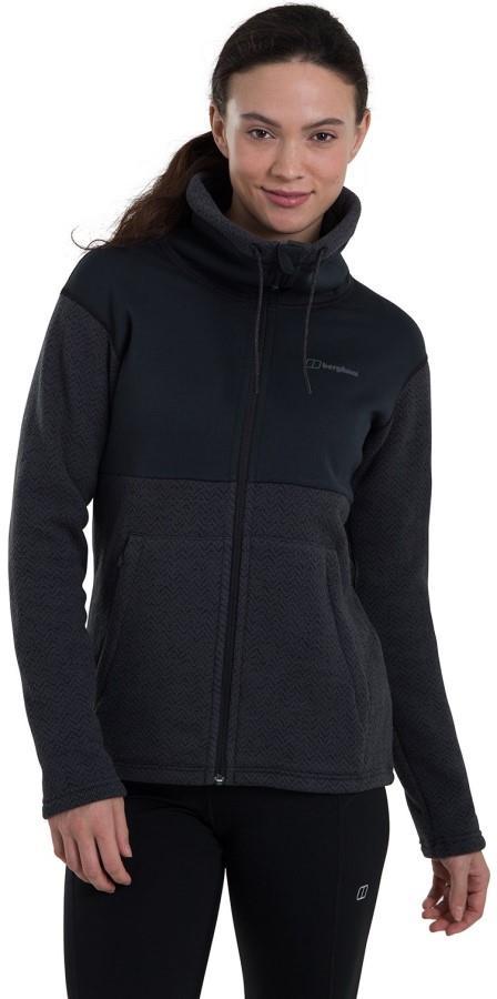 Berghaus Colca Women's Hiking/Climbing Fleece, UK 12 Black/Carbon