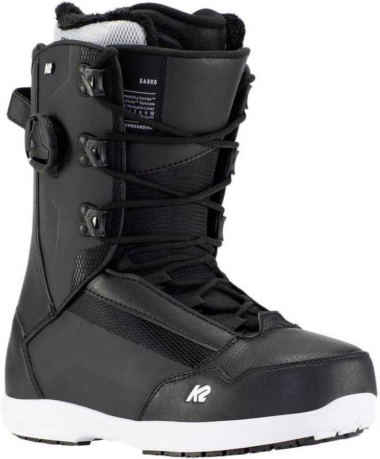 K2 Darko Men's Snowboard Boots, UK 8 Black 2021