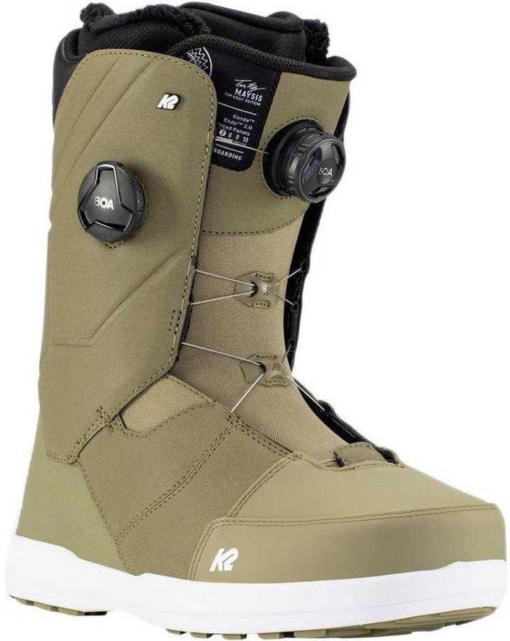 K2 Maysis Men's Snowboard Boots, UK 9.5 Olive 2021