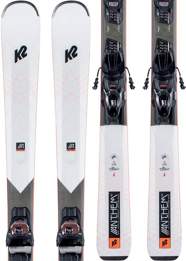 K2 Anthem 76X ER3 10 C QUIKCLIK Women's Skis, 156cm White/Black 2021