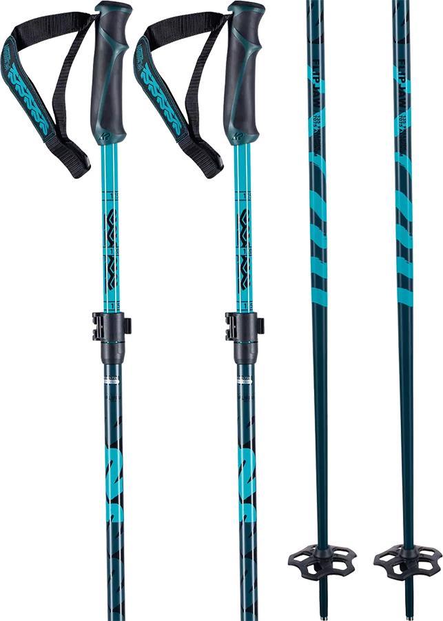 K2 Freeride Flipjaw Ski Poles, Adjustable 105-120cm Midnight