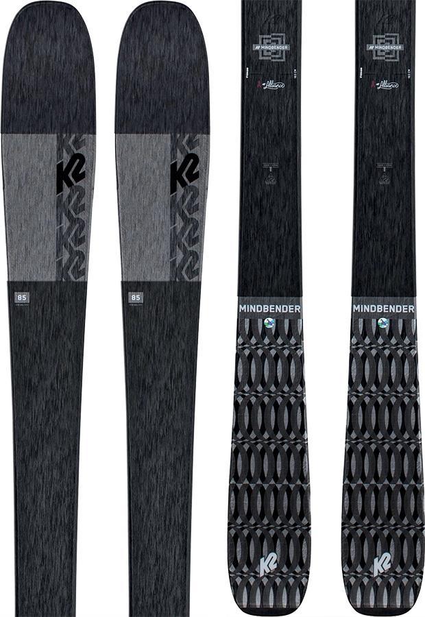 K2 Mindbender 85 Alliance Women's Skis, 149cm Black, Ski Only 2021
