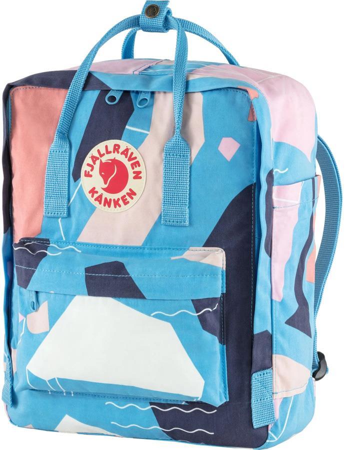 Fjallraven Kanken Art Day Pack/Backpack, 16L Ocean Surface