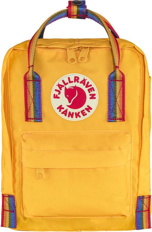 Fjallraven Kanken Rainbow Mini Daypack/Backpack, 7L Warm Yellow