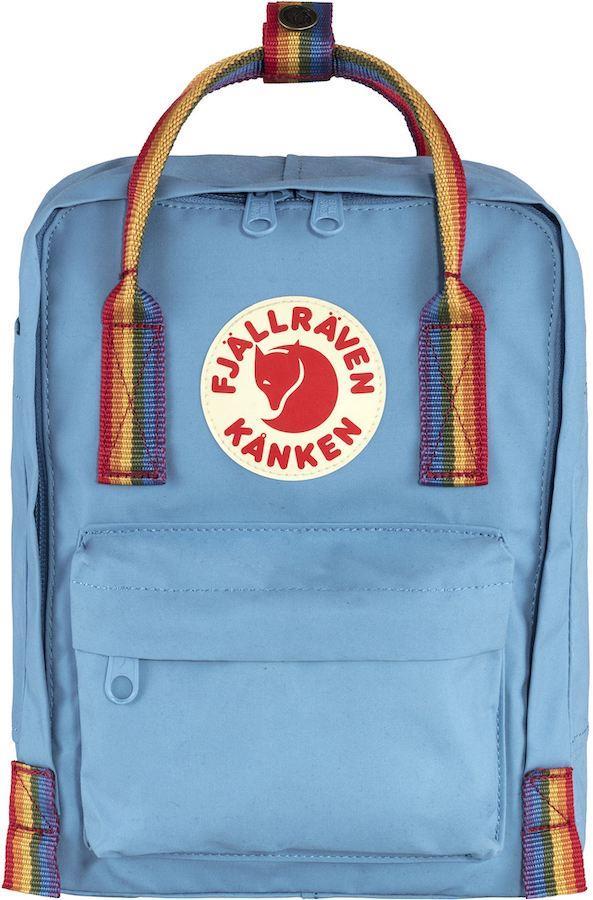 Fjallraven Kanken Rainbow Mini Daypack/Backpack, 7L Air Blue