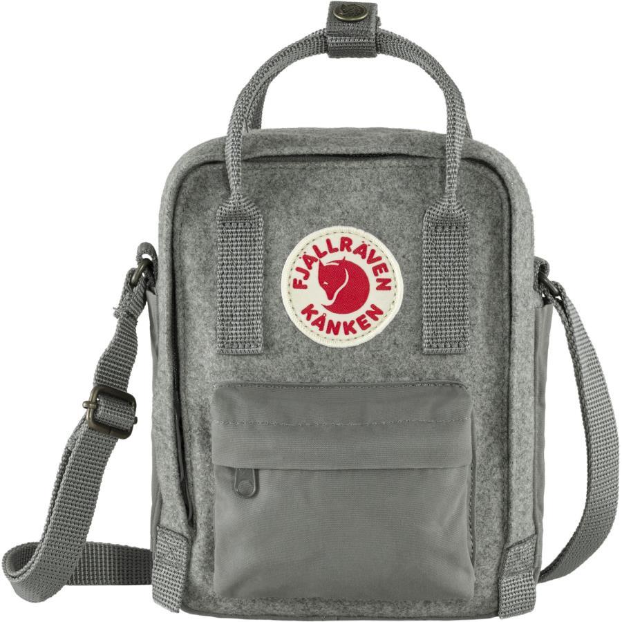 Fjallraven Kanken Re-Wool Sling Shoulder Bag, 2.5L Granite Grey