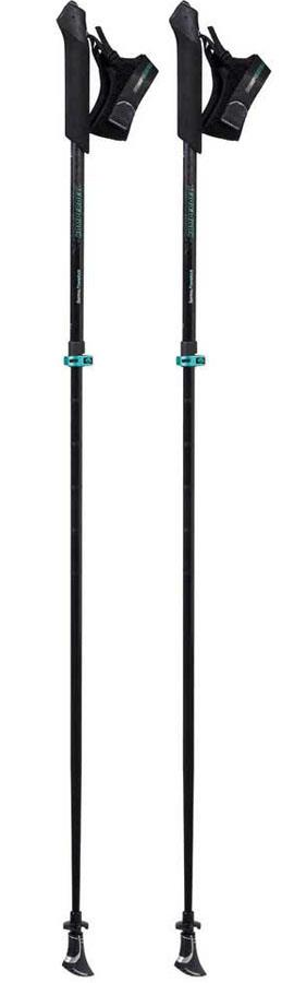 Komperdell Sarma Powerlock Adjustable Nordic Walking Poles, L Black