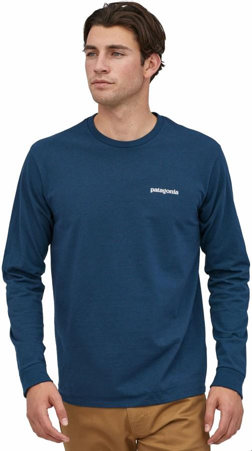 Patagonia P-6 Logo Responsibili-tee Long Sleeve T-Shirt, XL Crater