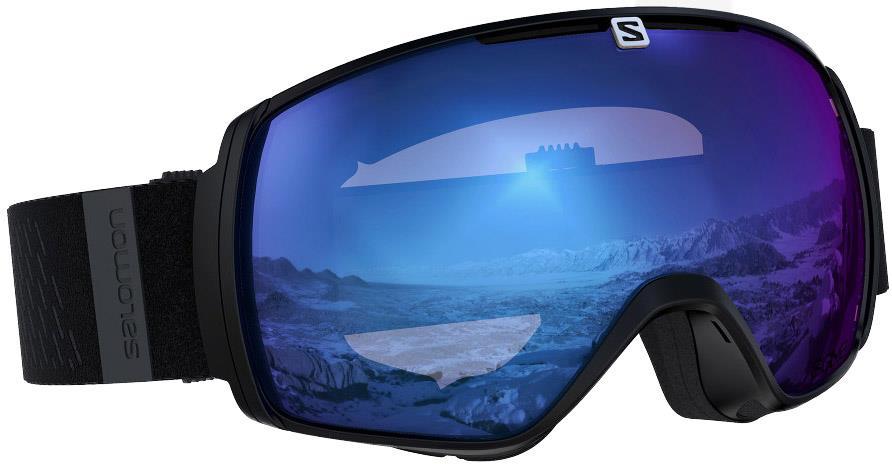 Salomon XT One Sigma Ice Blue Snowboard/Ski Goggles, M/L Black