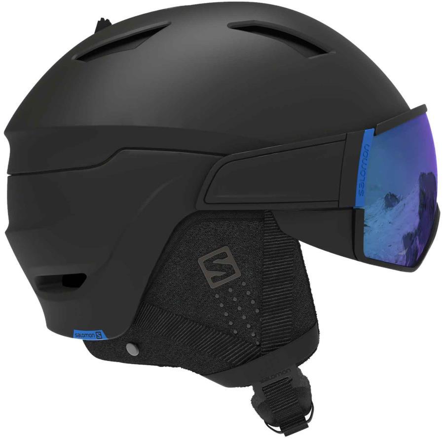 Salomon Driver Ski/Snowboard Visor Helmet, S, All Black