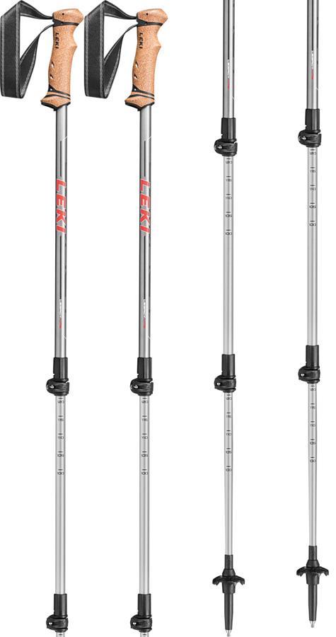 Leki Legacy Lite Adjustable Trekking Poles, 100-135cm Grey