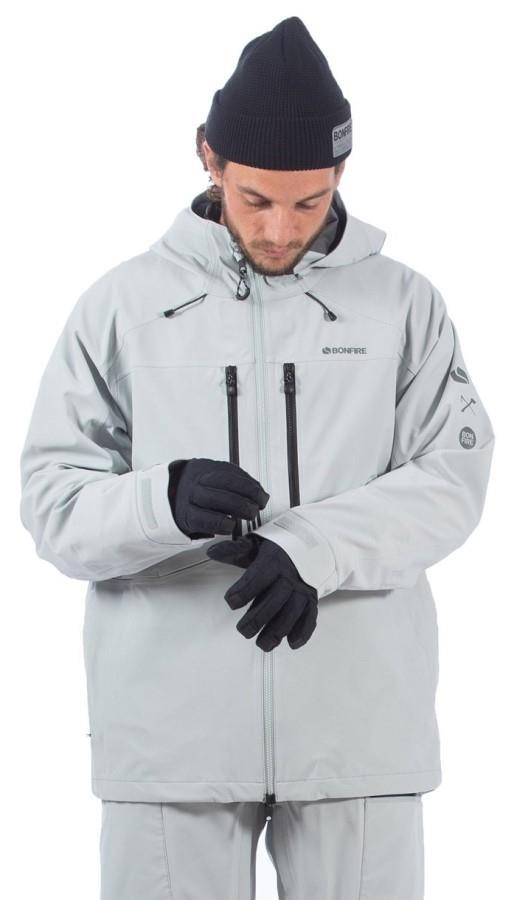 Bonfire Apex Polartec Neoshell 3L Ski/Snowboard Jacket, M Lt Grey