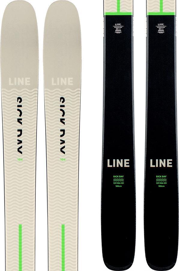 LINE Sick Day 104 Skis, 179cm Grey/Green/Black, Ski Only 2021