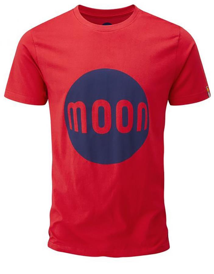 Moon Logo T-Shirt Rock Climbing Tee, L True Red