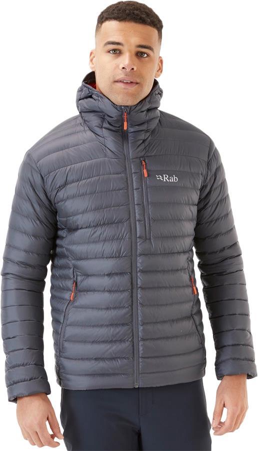 Rab Microlight Alpine Hooded Insulated Down Jacket, XL Graphene