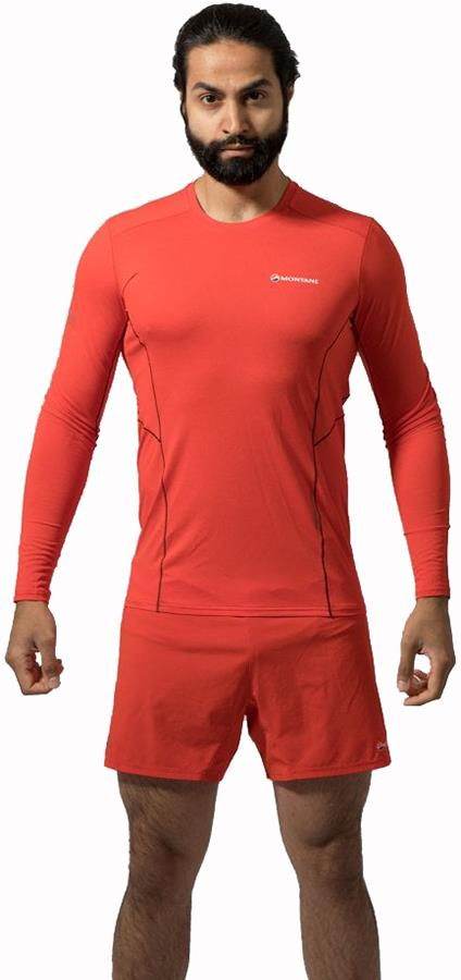 Montane Sabre Technical Base Layer Top, L Flag Red