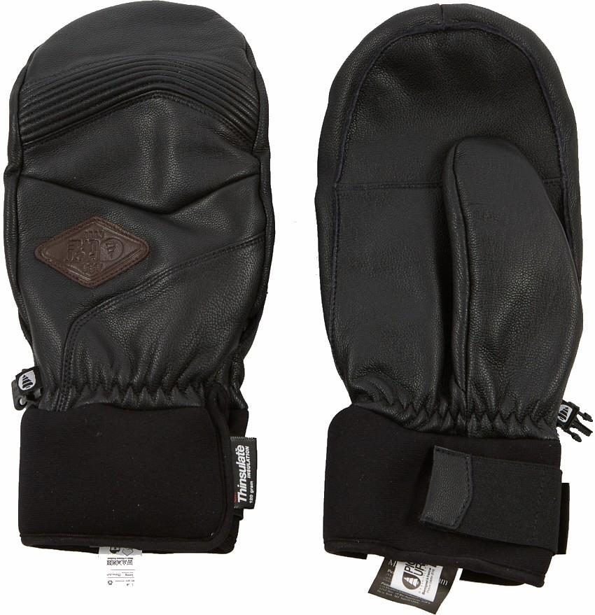 Picture McPherson Ski/Snowboard Leather Mitts, XL Black
