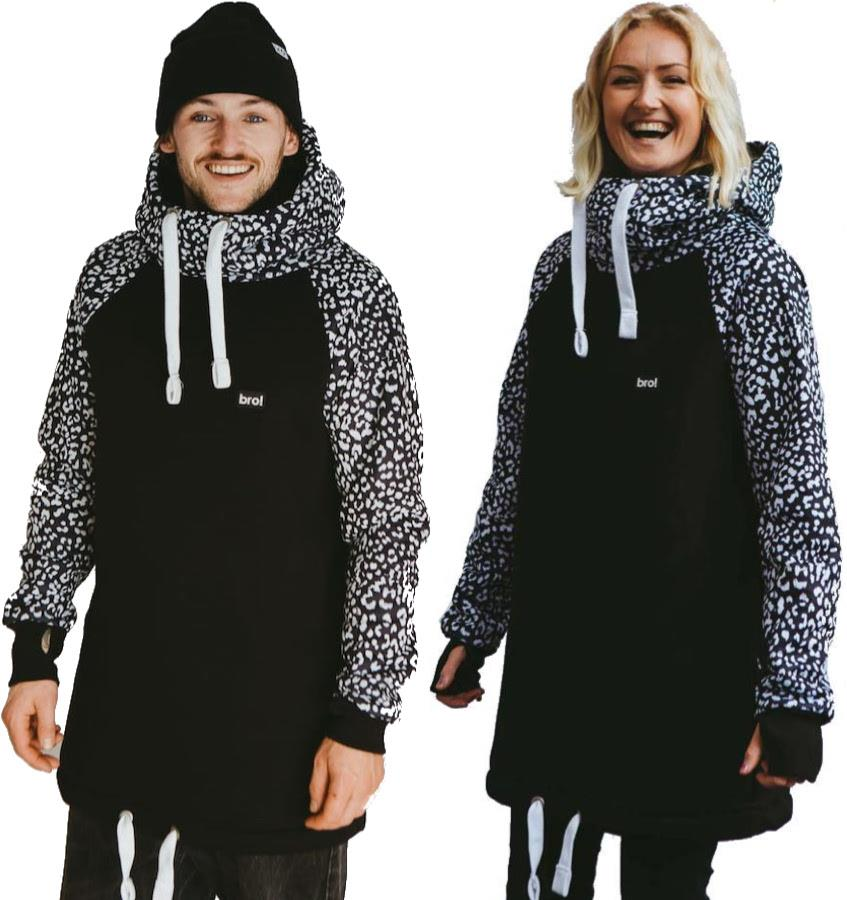 bro! Chill N'shred Unisex Ski/Snowboard Hoodie, S Inverted Wildcat