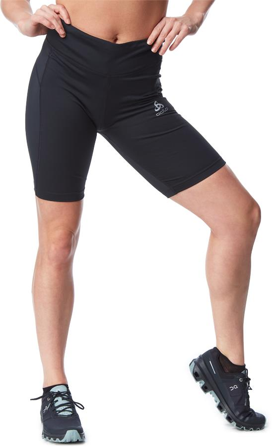 Odlo Essentials Soft Women's Short Running Tights, UK 16-18 Black