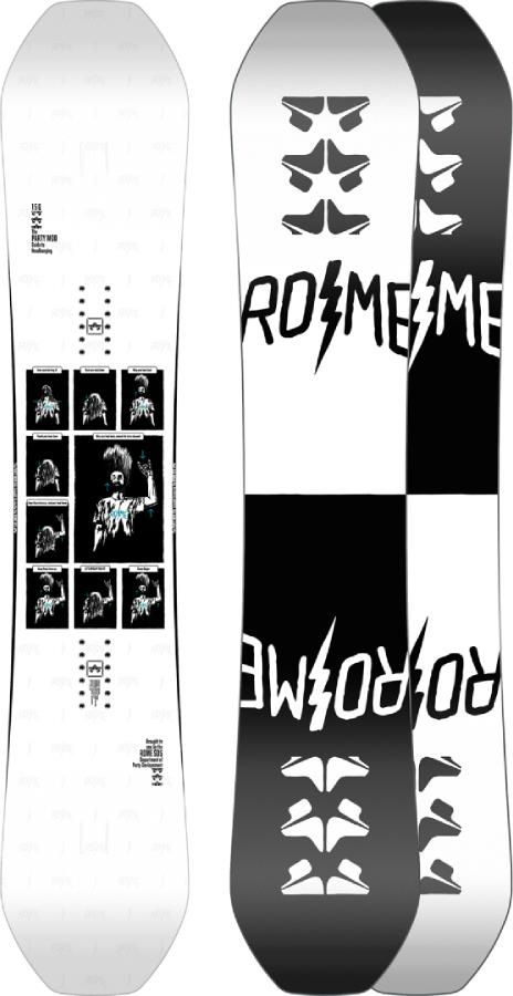 Rome Party Mod Rocker Reverse Camber Snowboard, 159cm 2021
