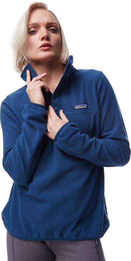 Patagonia Women's Micro D Snap-T Fleece Pullover UK 10 Tidepool Blue
