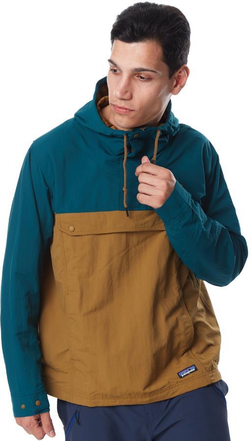 Patagonia Isthmus Anorak Windproof Jacket, S Mulch Brown