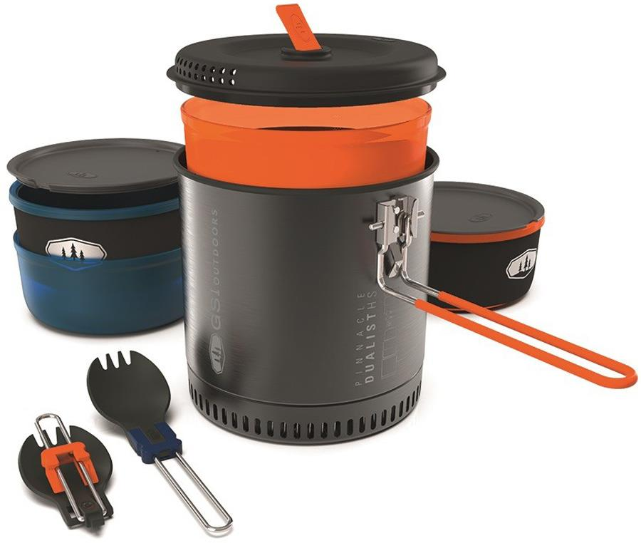GSI Outdoors Pinnacle Dualist HS Compact Camping Cookware Set, 1.8L