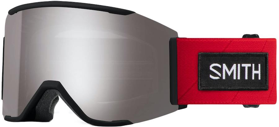 Smith Squad MAG CP Sun Platinum Snowboard/Ski Goggles M TNF Red Smith