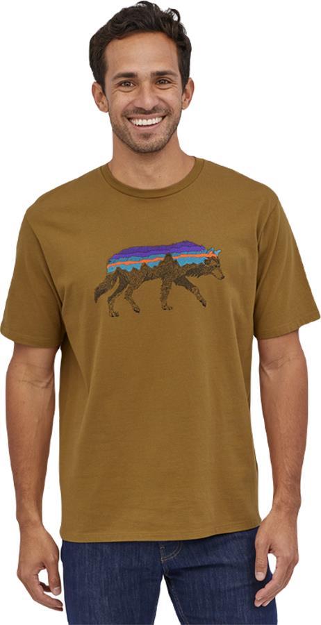 Patagonia Back For Good Organic Men's T-Shirt, L Mulch Brown Wolf