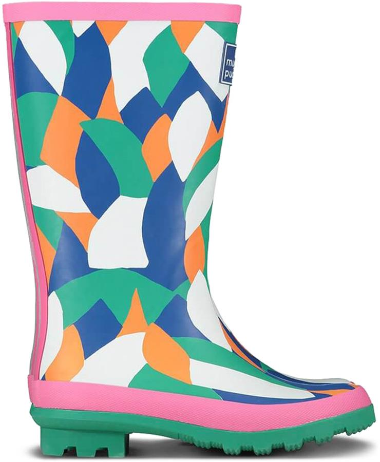 Muddy Puddles Puddlestomper Kids Wellies, Jnr 10 Multi Abstract