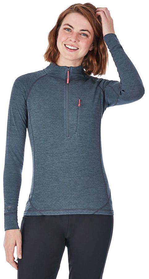 Rab Nexus Pull-On Women's Hiking Fleece, UK 10 Steel