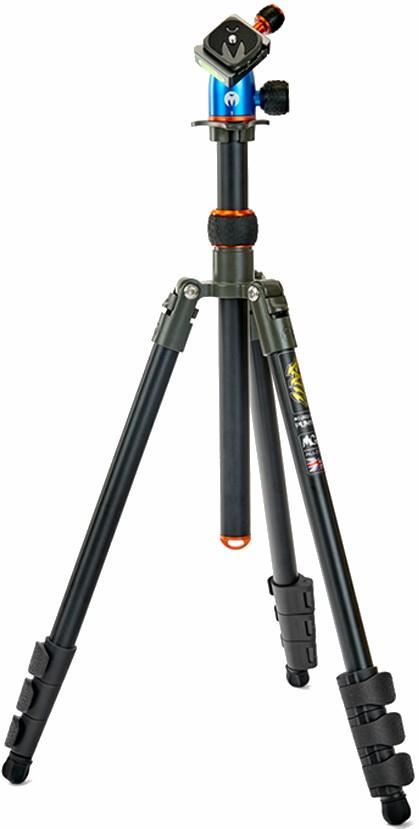 3 Legged Thing Punks Patti Travel Camera Tripod, 45cm Black/Orange