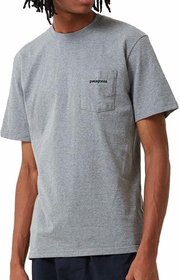 Patagonia Adult Unisex P-6 Logo Pocket Responsibili-Tee T-Shirt, S Grey Heather
