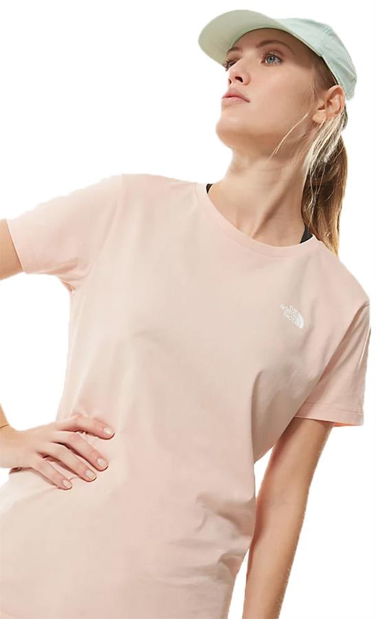 The North Face Simple Dome Women's T-Shirt, UK 14 Evening Sand
