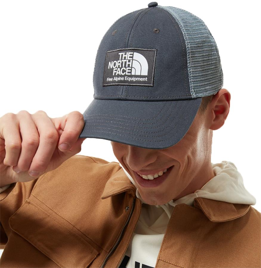 The North Face Mudder Trucker Hat Mesh Cap, Asphalt Grey