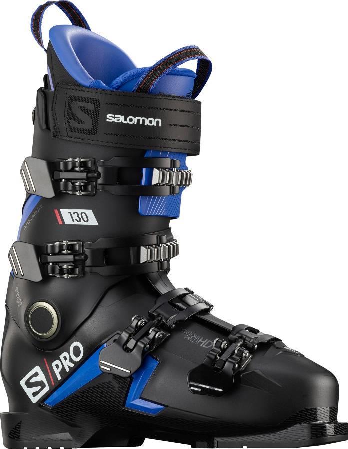 Salomon S/Pro 130 Ski Boots, 24/24.5 Black/Race Blue