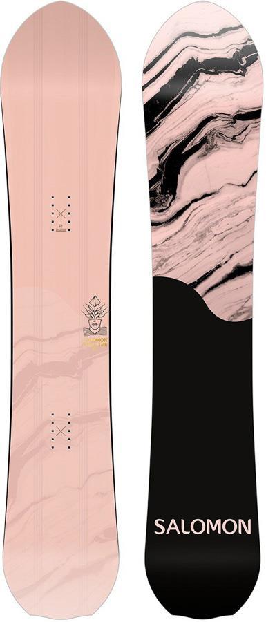 Salomon Pillow Talk Women's Hybrid Camber Snowboard, 145cm Mid Wide 2021