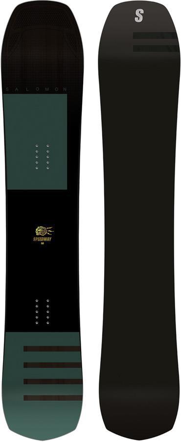 Salomon Speedway Hybrid Camber Snowboard, 165cm Black/Green 2020