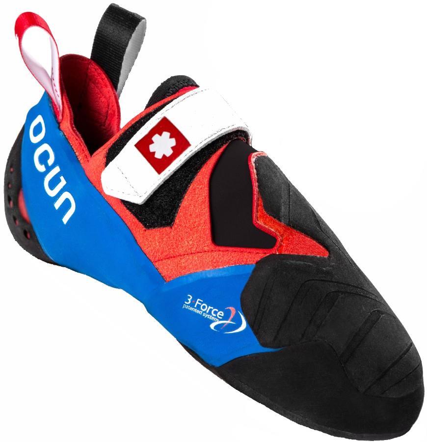 Ocun Adult Unisex Nitro Rock Climbing Shoe, Uk 9 | Eu 43 Red/Blue