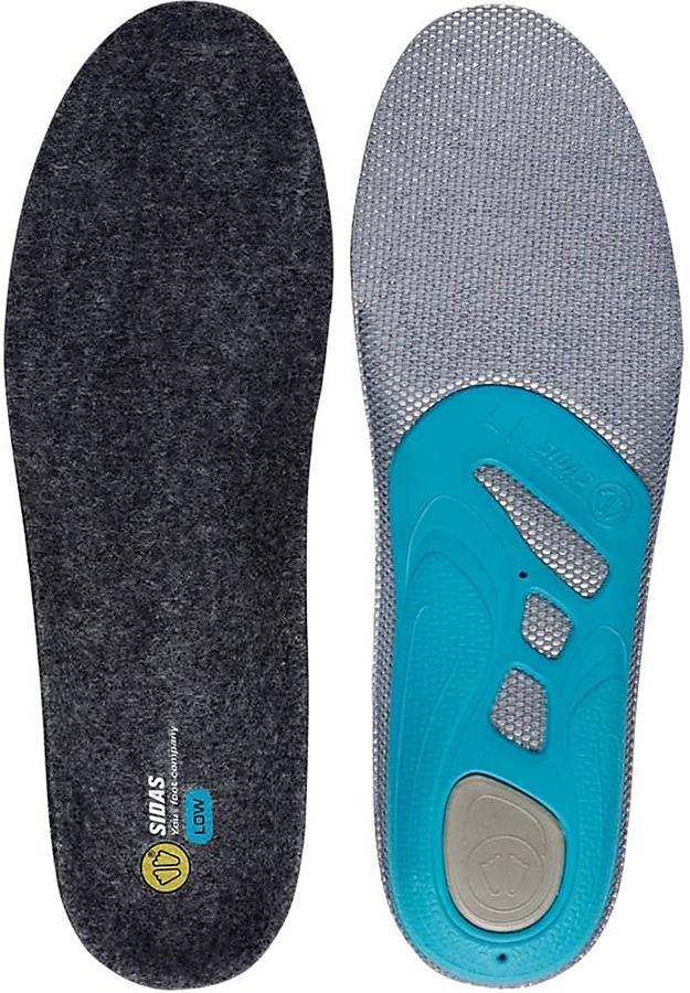 Sidas 3Feet Merino Low Boot/Shoe Insoles, XS Anthracite/Blue